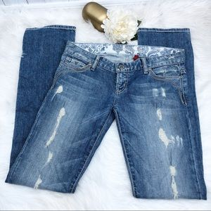 Guess Los Angeles Flirty Straight Jean Sz 27 ::